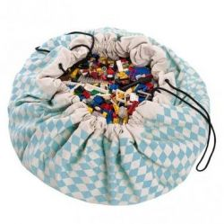 Toy Storage Bag | Blue Diamonds
