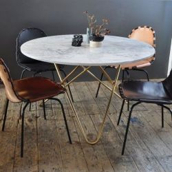 Big O Table | White Carrara/Brass