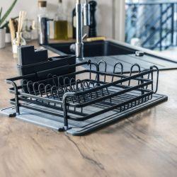 Dish Rack Diatomite | Dark Grey
