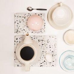 Plate Confetti | Black - White