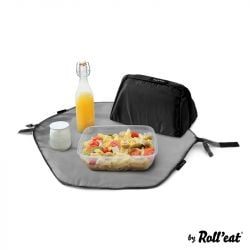 Wiederverwendbarer Lunchsack Eat'n'Out Mini Square | Schwarz