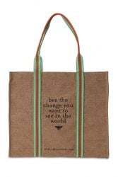 Eco Shopping Tote Bee The Change