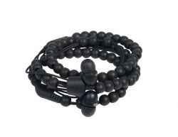 Wristband Earphones Natural Wrap | Ebony