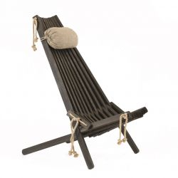 Outdoor Chair EcoChair Pine Wood | Black
