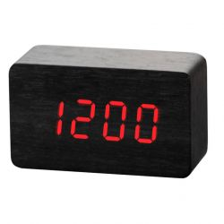 Alarm Clock Wood | Black