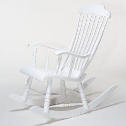 Eimi Schaukelstuhl Weiß