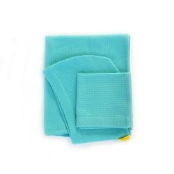 Hooded Towel & Wash Cloth | Blue