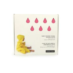 Hooded Towel & Wash Cloth | Pink