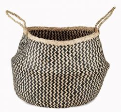 Ekuri Basket Large | Black and Natural