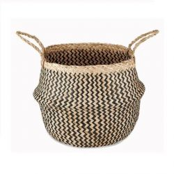 Ekuri Basket Medium | Black and Natural