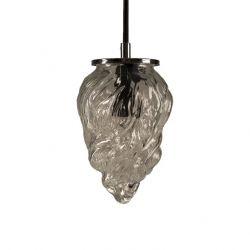 Glas Pendelleuchte Light Flamme   Silber-Transparent