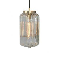 Glas Pendelleuchte Deco Clear   Gold-Transparent
