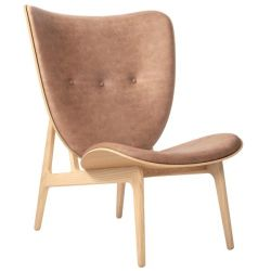 Armchair Elephant | Leather Seat | Natural Frame | Brown