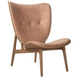 Armchair Elephant | Leather Seat | Smoked Frame | Brown