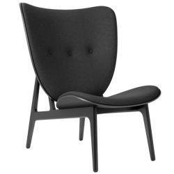 Armchair Elephant | Wool Seat | Black Frame | Black