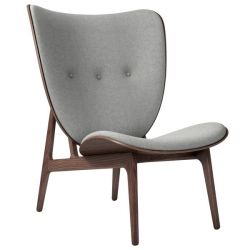 Armchair Elephant | Wool Seat | Dark Stained Frame | Grey