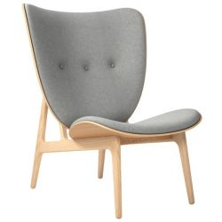 Armchair Elephant | Wool Seat | Natural Frame | Grey