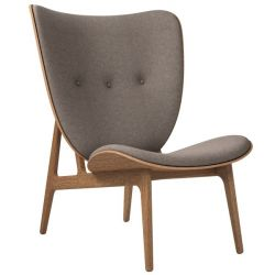 Armchair Elephant | Wool Seat | Smoked Frame | Grey