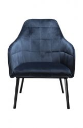 Lounge Chair Embrace Velvet | Blau