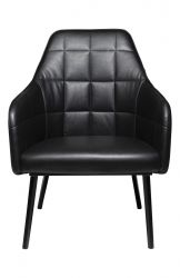 Lounge Chair Embrace Artificial Leather | Vintage Black