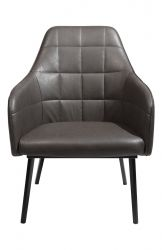 Lounge Chair Embrace Artificial Leather | Vintage Grey