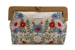 Wooden Handle Clutch Multi-Colour