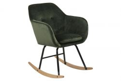 Rocking Chair Velvet Mila | Forest Green