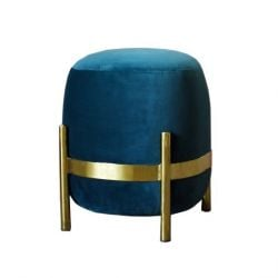 Vega Pouf | Teal Green (Gold or Black)