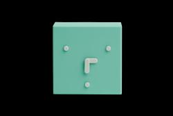 Tischuhr Face 2-6-10 | Minzgrün