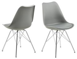 Chair Hera Plastic Set of 2 | Grey