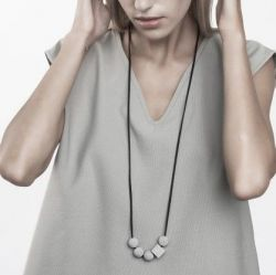 Necklace ERRANT | Grey & Black