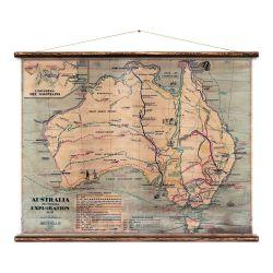 Wandkarte | Australien
