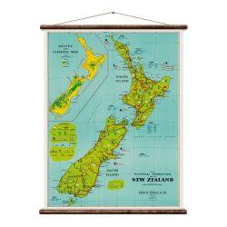 Wandkarte | Neuseeland