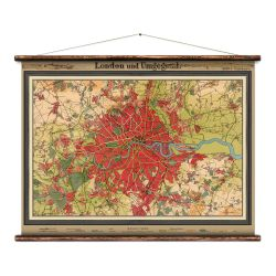Wandkarte | London