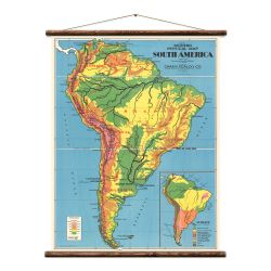 Wandkarte | Südamerika