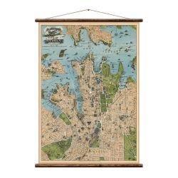 Wandkarte | Sydney