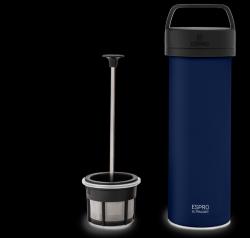 P0 Ultralight Travel French Press w/ Coffee Filter 475 ml | Blue