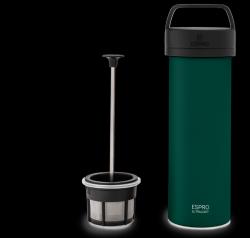 P0 Ultralight Travel French Press w/ Coffee Filter 475 ml | Green