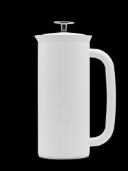 P7 French Press w/ Coffee Filter | White