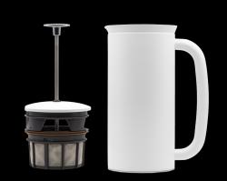 P7 French Press w/ Coffee Filter 950 ml | White