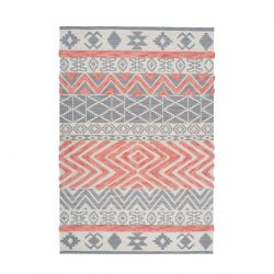 Rug Etna 100 | Grey & Orange