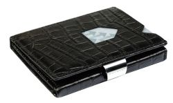 Leather Classic Wallet | Caiman Black