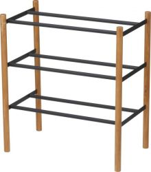 Shoe Rack Plain Extendable | Black