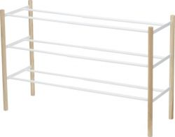 Shoe Rack Plain Extendable | White