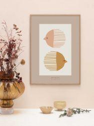 Plakat | Vogel und Fisch