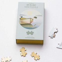 Mini Puzzle | Junge in einem Boot