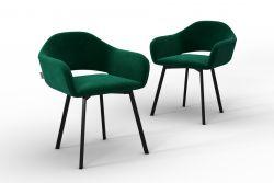 Set Of 2 Chairs Oldenburg | Green-Velvet Touch