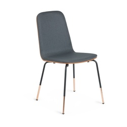 Stuhl Chrystel | Dunkelgrau & Holz