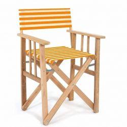 Director Chair Striped | Orange/Natural Tissue