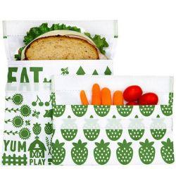 Wiederverwendbares Velcro-Sandwich 2-Pack | Green Farm